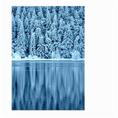 Snowy Forest Reflection Lake Large Garden Flag (two Sides)
