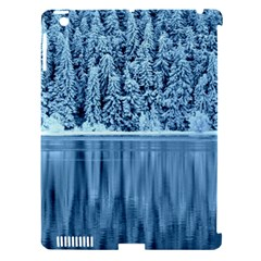 Snowy Forest Reflection Lake Apple Ipad 3/4 Hardshell Case (compatible With Smart Cover)