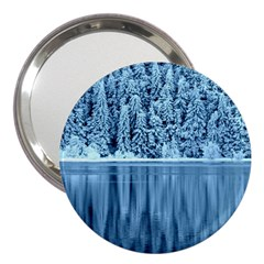 Snowy Forest Reflection Lake 3  Handbag Mirrors