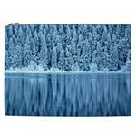 Snowy Forest Reflection Lake Cosmetic Bag (XXL) Front