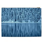Snowy Forest Reflection Lake Cosmetic Bag (XXL) Back