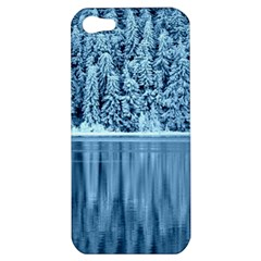 Snowy Forest Reflection Lake Apple Iphone 5 Hardshell Case