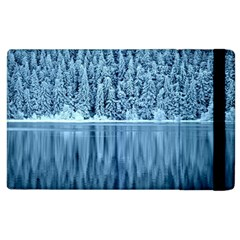 Snowy Forest Reflection Lake Apple Ipad 2 Flip Case