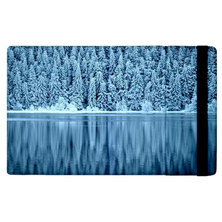 Snowy Forest Reflection Lake Apple iPad 3/4 Flip Case