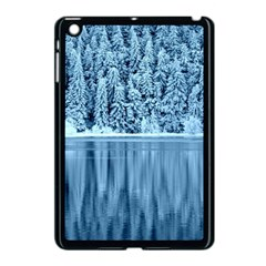 Snowy Forest Reflection Lake Apple Ipad Mini Case (black)
