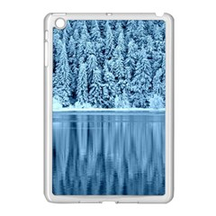 Snowy Forest Reflection Lake Apple Ipad Mini Case (white)
