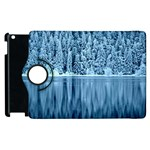Snowy Forest Reflection Lake Apple iPad 2 Flip 360 Case Front