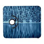 Snowy Forest Reflection Lake Samsung Galaxy S  III Flip 360 Case Front