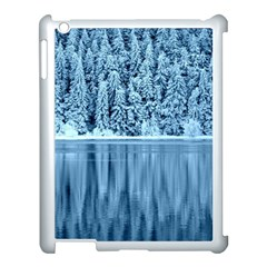Snowy Forest Reflection Lake Apple Ipad 3/4 Case (white)