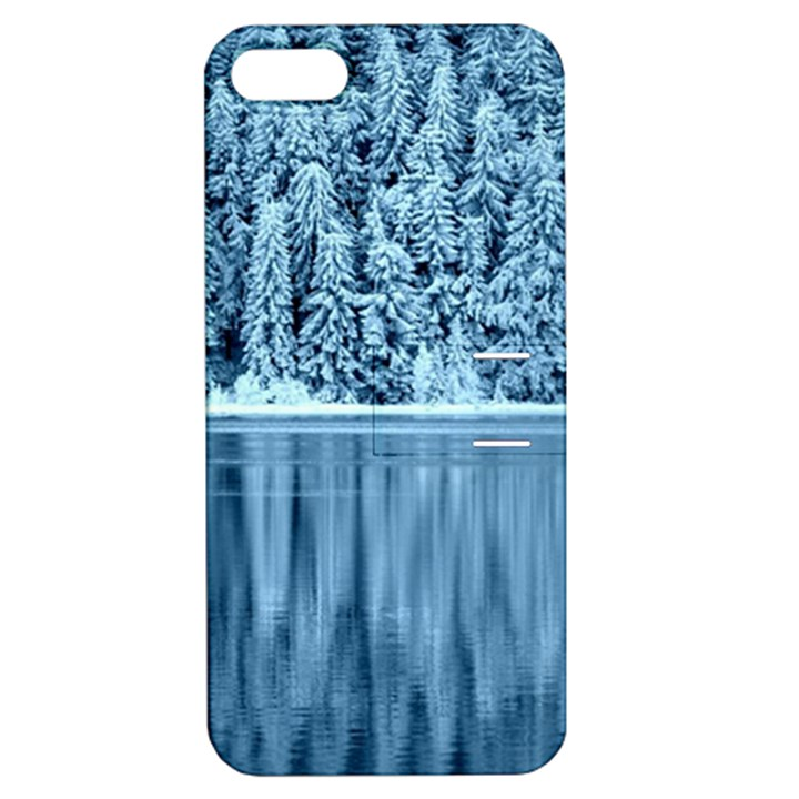 Snowy Forest Reflection Lake Apple iPhone 5 Hardshell Case with Stand