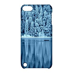 Snowy Forest Reflection Lake Apple Ipod Touch 5 Hardshell Case With Stand