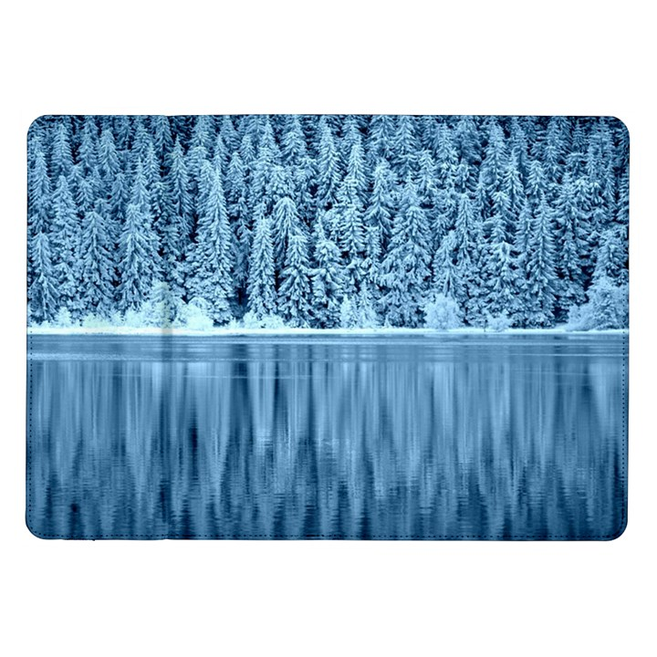 Snowy Forest Reflection Lake Samsung Galaxy Tab 10.1  P7500 Flip Case