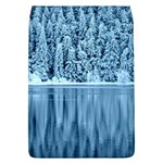 Snowy Forest Reflection Lake Removable Flap Cover (L) Front