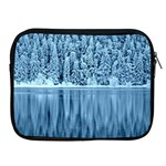 Snowy Forest Reflection Lake Apple iPad 2/3/4 Zipper Cases Front