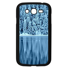 Snowy Forest Reflection Lake Samsung Galaxy Grand Duos I9082 Case (black)