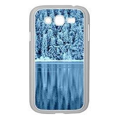 Snowy Forest Reflection Lake Samsung Galaxy Grand Duos I9082 Case (white)