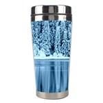 Snowy Forest Reflection Lake Stainless Steel Travel Tumblers Left