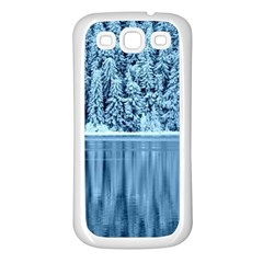 Snowy Forest Reflection Lake Samsung Galaxy S3 Back Case (white) by Alisyart