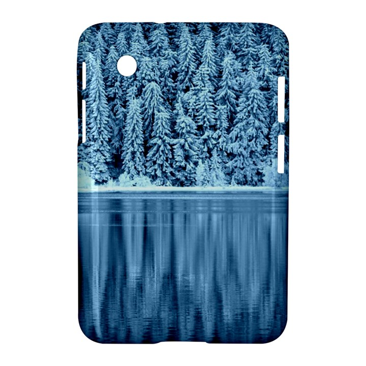 Snowy Forest Reflection Lake Samsung Galaxy Tab 2 (7 ) P3100 Hardshell Case