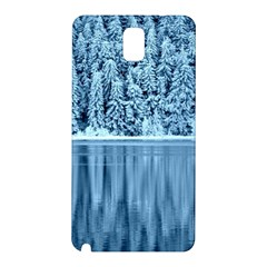 Snowy Forest Reflection Lake Samsung Galaxy Note 3 N9005 Hardshell Back Case