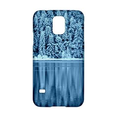 Snowy Forest Reflection Lake Samsung Galaxy S5 Hardshell Case  by Alisyart