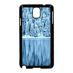 Snowy Forest Reflection Lake Samsung Galaxy Note 3 Neo Hardshell Case (black) by Alisyart