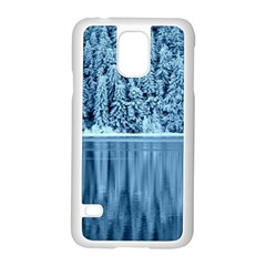 Snowy Forest Reflection Lake Samsung Galaxy S5 Case (white)