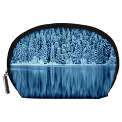 Snowy Forest Reflection Lake Accessory Pouch (large)