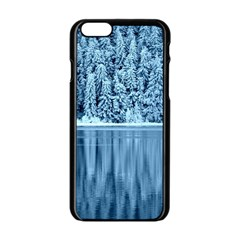 Snowy Forest Reflection Lake Apple Iphone 6/6s Black Enamel Case