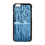 Snowy Forest Reflection Lake Apple iPhone 6/6S Black Enamel Case Front