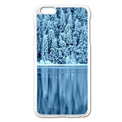 Snowy Forest Reflection Lake Apple Iphone 6 Plus/6s Plus Enamel White Case