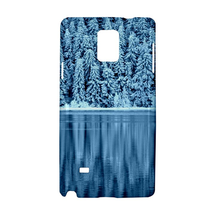 Snowy Forest Reflection Lake Samsung Galaxy Note 4 Hardshell Case