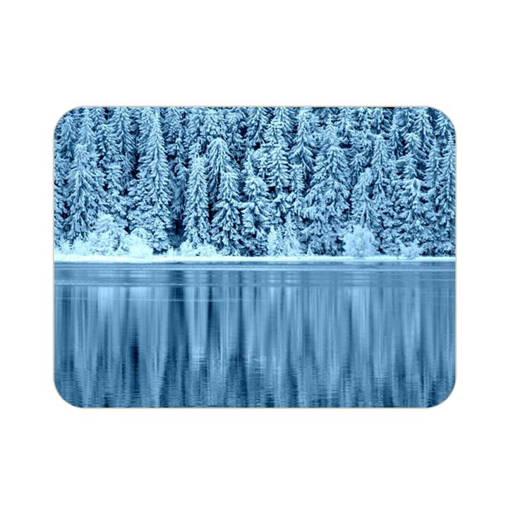 Snowy Forest Reflection Lake Double Sided Flano Blanket (Mini)
