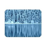 Snowy Forest Reflection Lake Double Sided Flano Blanket (Mini)  35 x27 Blanket Back