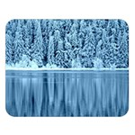 Snowy Forest Reflection Lake Double Sided Flano Blanket (Large)   Blanket Back