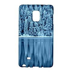 Snowy Forest Reflection Lake Samsung Galaxy Note Edge Hardshell Case