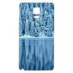 Snowy Forest Reflection Lake Samsung Note 4 Hardshell Back Case Front