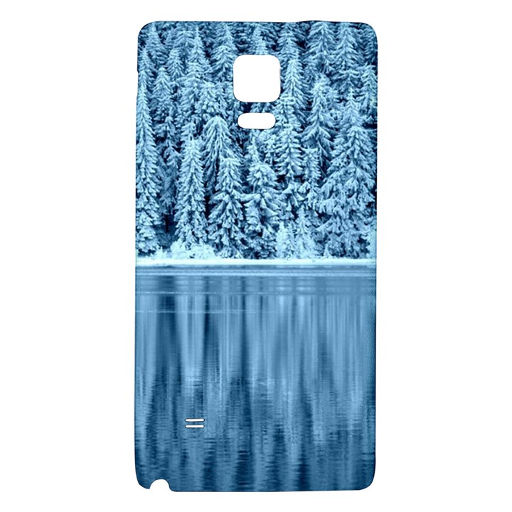 Snowy Forest Reflection Lake Samsung Note 4 Hardshell Back Case