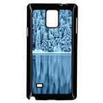 Snowy Forest Reflection Lake Samsung Galaxy Note 4 Case (Black) Front