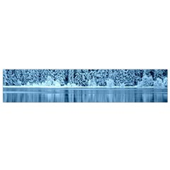 Snowy Forest Reflection Lake Small Flano Scarf