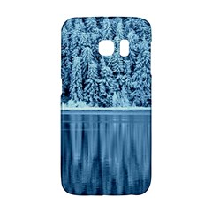 Snowy Forest Reflection Lake Samsung Galaxy S6 Edge Hardshell Case by Alisyart