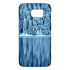 Snowy Forest Reflection Lake Samsung Galaxy S6 Hardshell Case  by Alisyart