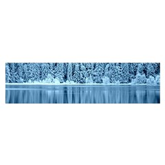 Snowy Forest Reflection Lake Satin Scarf (oblong)