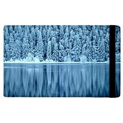 Snowy Forest Reflection Lake Apple Ipad Pro 9 7   Flip Case