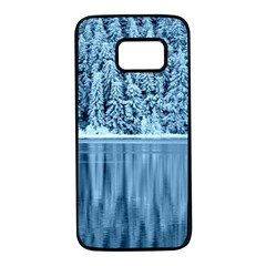 Snowy Forest Reflection Lake Samsung Galaxy S7 Black Seamless Case