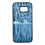 Snowy Forest Reflection Lake Samsung Galaxy S7 Black Seamless Case Front