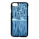 Snowy Forest Reflection Lake Apple iPhone 7 Seamless Case (Black) Front