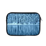 Snowy Forest Reflection Lake Apple MacBook Pro 15  Zipper Case Front