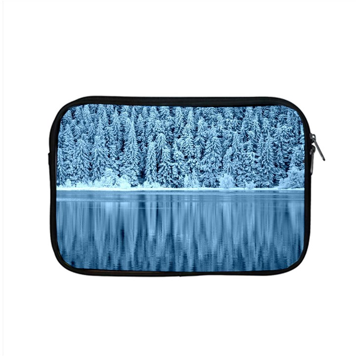 Snowy Forest Reflection Lake Apple MacBook Pro 15  Zipper Case