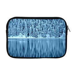 Snowy Forest Reflection Lake Apple Macbook Pro 17  Zipper Case